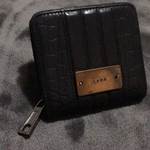 L.A.M.B. Leather wallet w coin zip purse